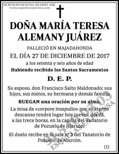 María Teresa Alemany Juárez